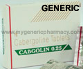 Generic Cabgolin (tm)  0.25mg (20 Pills)
