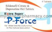 Extra Super PForce -Sildenafil 100mg+Dapoxetine 100mg (120 Pills)