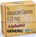 Generic Calcitriol (tm)  0.25mg (30 Pills)