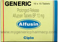 Generic Alfusin (tm)  10mg (60 Pills)