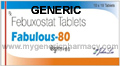 Generic Febuxostat (tm)  80mg (90 Pills)