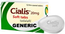 Generic Cialis (tm)  Soft Tabs, Chewable 20mg (30 Pills)