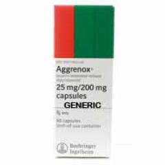 Generic Aggrenox (tm) 200+25 mg (120 Pills)