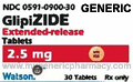 Generic Glucotrol (tm) 2.5mg (120 pills)