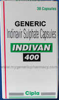 Generic Indivan (tm) 400mg (30 Pills)