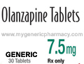Generic Zyprexa (tm) 7.5mg (30 Pills)