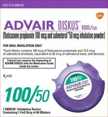 Generic Advair Diskus (tm) 100-50mcg (60 pills)