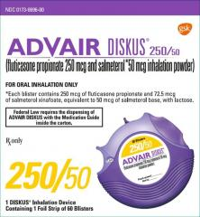 Generic Advair Diskus (tm) 250-50mcg (60 pills)