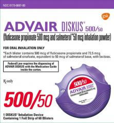 Generic Advair Diskus (tm) 500-50mcg (120 pills)