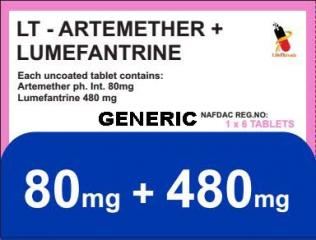 Generic Coartem (tm) 80mg + 480mg (60 Pills)